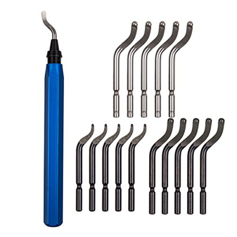 15pcs Metal Repair Deburring Tool Kit Bit Rotary Deburr Blades Remover Deburring Tool Set For Wood Copper And Steel #30