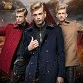 O Envio gratuito de Nova moda masculina casual inverno dos homens longo Fino personalidade jaqueta fanzhuan grandes estaleiros casaco de lã bordados 0088