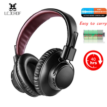 Active Noise Cancelling Headset Wireless Foldable  Bluetooth Headphones Bass Hifi  Sports Headphone Earphones With  Microphone mpow h1 wireless headphones hd hifi stereo noise cancelling headphones with microphone over ear bluetooth headset for iphone