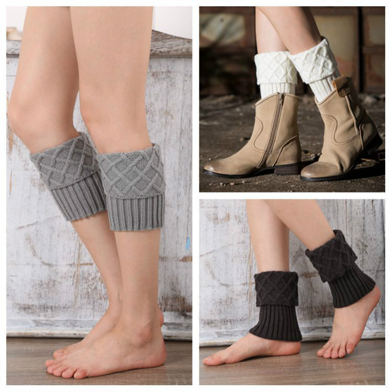 Buy Women Ladies Crochet Knitted Shell Design Boot And Get Free