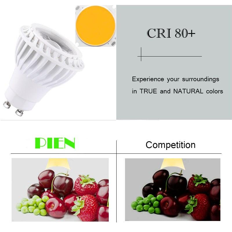GU10 COB MR16 Lampadine LED Dimmerabile Lampada fiala 220 V 110 V 12 V E27 E14 focos led 7 W 5 W alluminio per downlight da DHL 30 pz - 6
