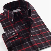 Smart Five New 2017 New Autumn Summer Long Sleeve Cotton Casual Plaid Shirt Men Slim Fit