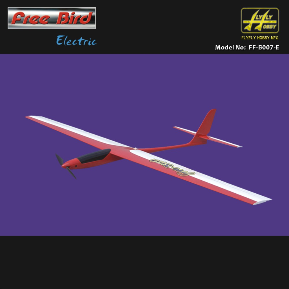 Free Bird Electric Glider 1450mm Fiberglass Fuselage & Balsa wood wings