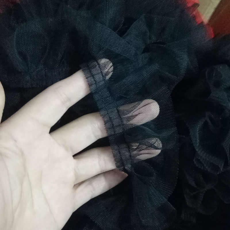 Pileli tül dantel kumaş 5cm şerit mavi mor dantel Trim dikiş gipür zanaat malzemeleri pembe yeşil dantel malzeme dentelle RT11