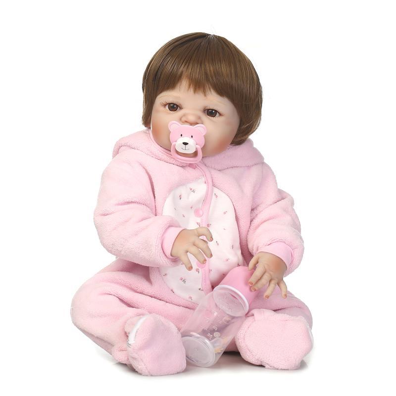 23full silicone vinyl reborn baby doll toys play house reborn girl boy babies kids child brithday Christmas gift girls brinqued