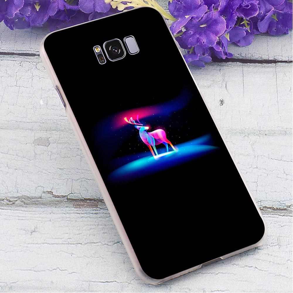 Перо волк жесткий чехол для Samsung Galaxy A5 2017 чехол для телефона для A6 2016 A7 2018 A8 плюс A9 A10 A20 A30 A40 A50 A70 A3 2015