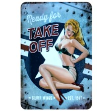 [Mike86] siap untuk mengambil off Pinup Lady Logam Lukisan Dekorasi Antik Stiker Dinding Pub Tin Sign 20*30 CM Mix item A-1116(China)