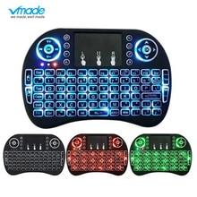 3 farbe hintergrundbeleuchtung i8 Mini Drahtlose Tastatur 2,4 ghz Englisch Russische 3 farbe Air Maus mit Touchpad fernbedienung Android TV Box