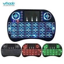 3 kolor podświetlany i8 Mini bezprzewodowa klawiatura 2.4ghz angielski rosyjski 3 kolor Air Mouse z touchpadem pilot zdalnego sterowania TV Box z androidem