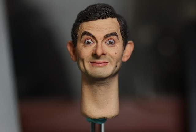 Online Shop Km13 81 1 6 Mr Bean Head Carving For Hottoys Entrebay