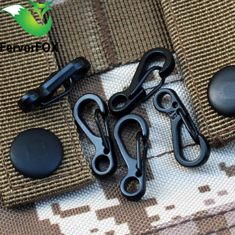 10PCS Mini SF Spring Backpack Clasps Climbing Carabiners EDC Keychain Camping Bottle Hooks Paracord Tactical Survival Gear(China)