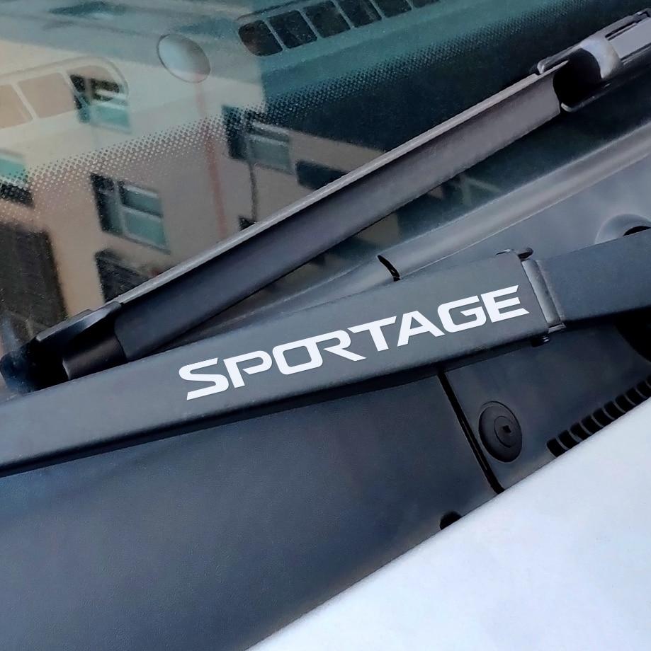4PCS Car Window Wiper Sticker For Kia Sportage 3 4 QL Auto Brand Vinyl Decal Reflective Auto Sport Decor Sticker Car Accessories
