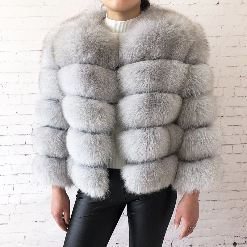 2019 new style real fur coat 100% natural fur jacket female winter warm leather fox fur coat high quality fur vest Free shipping 101