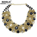 MANILAI Fashion Multicolor Crystal Beads Maxi Collar Chokers Women Chunky Collar Necklace Statement Jewelry 2016 Accessories