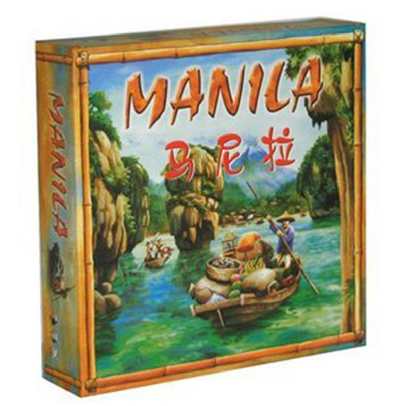 Manila Board Game Funny Trade Educational Toy Perfect Chinese Version For 3-5 Players Family Board Games For Kids funny monkey climbing board game kids falling tumbling family toy safe plastic sharing educational toys for kids