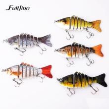 Купить с кэшбэком 1pcs Fishing Lures Wobblers Swimbait Crankbait Hard Bait Isca Artificial Fishing Tackle Lifelike Lure 7 Segment 10cm 15.5g