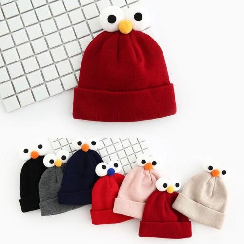 New Toddler Kids Girl&Boy Baby Infant Winter Warm Crochet Knit Eye Hat Beanie Cap
