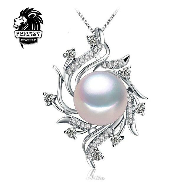 Чешский Ожерелье Ювелирные Изделия Перлы ожерелья & подвески Перл марка ожерелье женщины Природный жемчуг ожерелье, FENASY