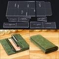 1 conjunto longo carteira edição padrão acrílico durável modelo de couro artesanal diy design carteira edição ferramenta de couro 20x9x2cm
