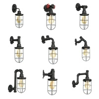 Vintage Industrial Wall Lamp Retro Water pipe Wall Light E27 iron Sconce Light Indoor Home Bar Aisle Lamps restaurant Decoration