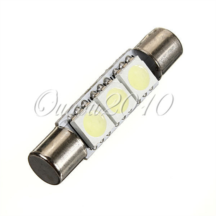 White 29mm 3 SMD 5050 LED Car Auto C5W Interior Dome Festoon Vanity Mirror Sun Visor Lights Bulb Lamp DC12V