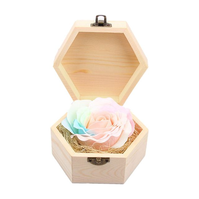New Affordable Soap Flowers Gift Box For Birthday Gifts Teachers Luminous Wedding Favors Party With Wooden