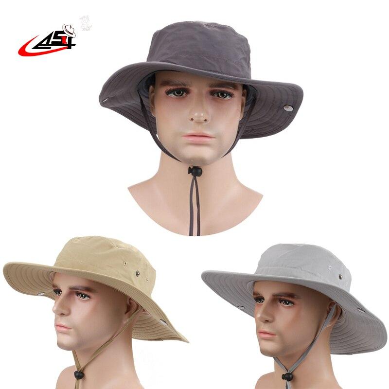 2018 Fisherman Hats womens wide brim hat Waterproof Brand Cowboy Hat for men  Outdoors Bucket Hat Panama Male Caps Bob 53c4f473f26
