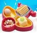 Pratos do bebê Kawaii em forma de avião da rede multi-cores brilhantes bebê talheres pratos pratos bonitos do bebê para bebês