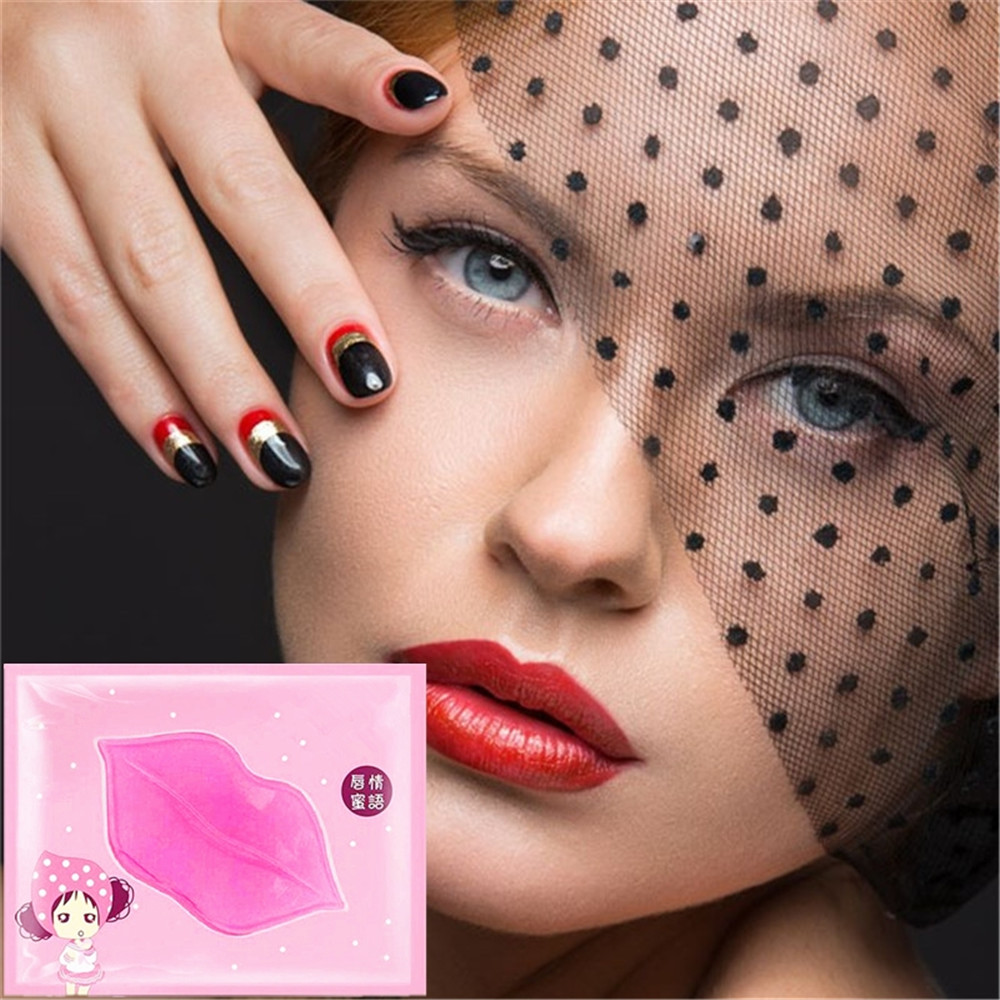 Love Thanks 1Pcs Enhancer Crystal Collagen Lips Mask Patches Pads Lip Plumper Anti Wrinkle
