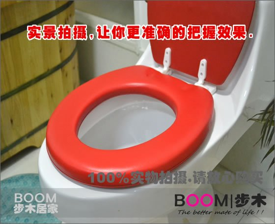 Pleasant Free Shipping Wholesale Soft Padded Toilet Seat Round Red Machost Co Dining Chair Design Ideas Machostcouk