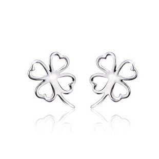 Wholesale 100% Full 925 Sterling Silver Fashion 16*13 mm Stud Earrings, 2PCS/1PAIR, Silver Jewelry 925, Top Quality!! (W0024)