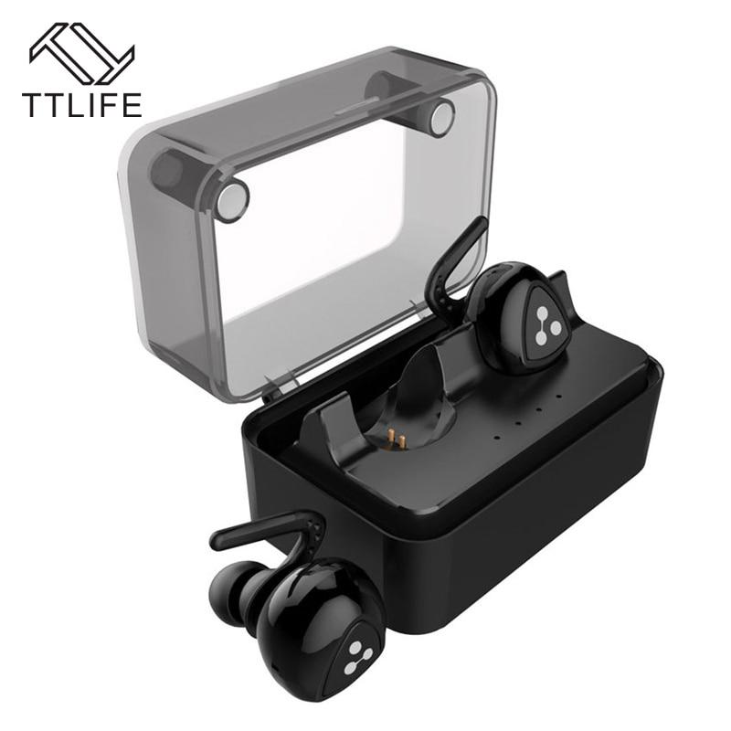 TTLIFE MINI Double-ear Wireless Bluetooth Earphone True Wireless Technology Sport Earphone With Charge Box For Phones xiaomi