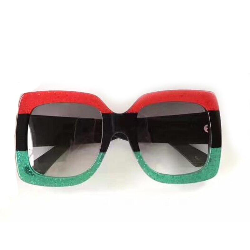 2608-2624 cuadrado grande Marcos Gafas de sol mujeres tres colores caliente Steampunk Sol Gafas oculos feminino vintage moda Sol Gafas