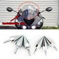 Acessórios da motocicleta Universal Chrome Pico Parafusos para Brisas Carenagens Matrícula