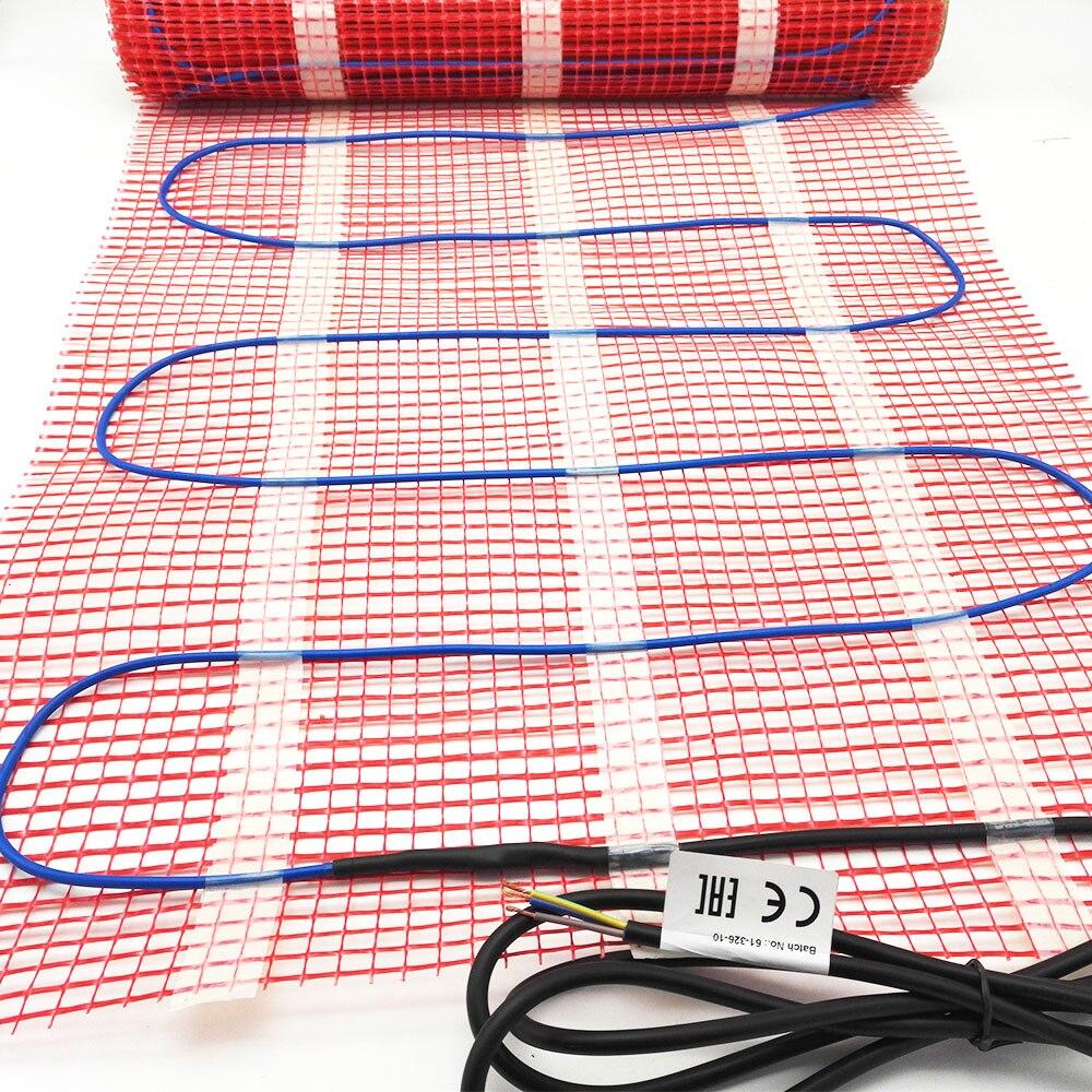 Minco Heat 8 м x 50 см 150 ватт тающий снег теплый пол коврик, FEP изолированный прочный и безопасный нагревательный коврик - 5