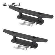 MagiDeal Newest 2Pcs Nylon Marine Mooring Deck Mount Anchor Cleat With Screw for Kayak Rafting Rowing Boat Canoe Accessory Black