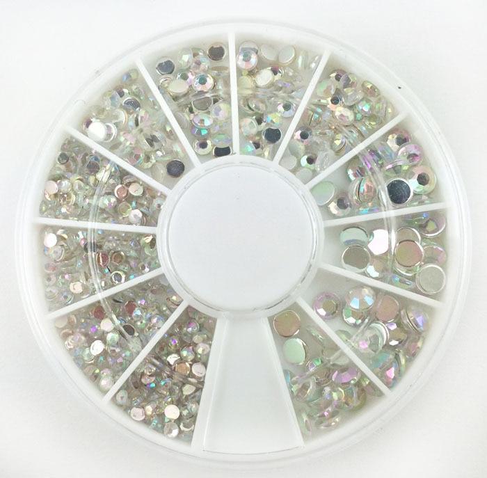 600pcs Mixed Haft Round Pearl Beads For Needlework FlatBack Scrapbook Decoration Craft Cabochon DIY Embellishments Accessories(China)