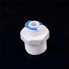 1 шт. 1/2 ''резьба штекер до 1/4'' Push-in Fit RO вода быстрое подключение трубки быстрое подключение