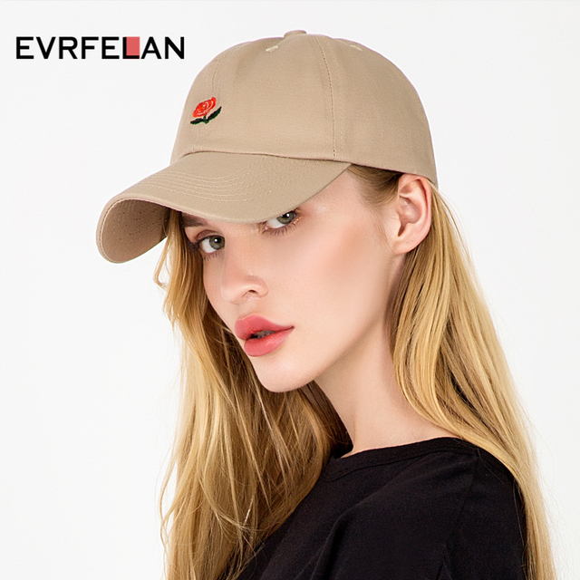 bc8828d5d39c4 New Rose Baseball Caps Women Snapback Cap Flower Summer Embroidery Curved  Spring Snapback Caps Men Trapback