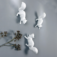 American Country Squirrel Animal Wall Decorations Nordic Living Room Wall Background Wall Hanging Pendant