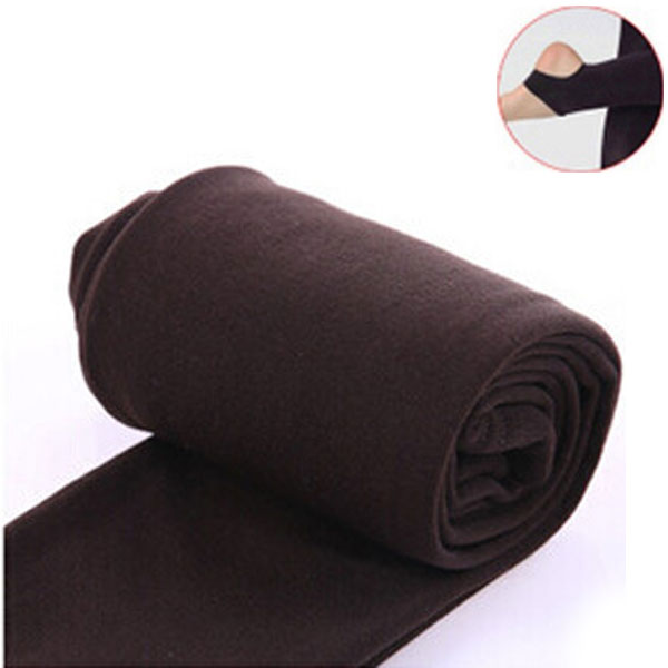 2020 Autumn winter woman thick warm leggings candy color brushed charcoal Stretch Fleece Pants Trample Feet Leggings 10