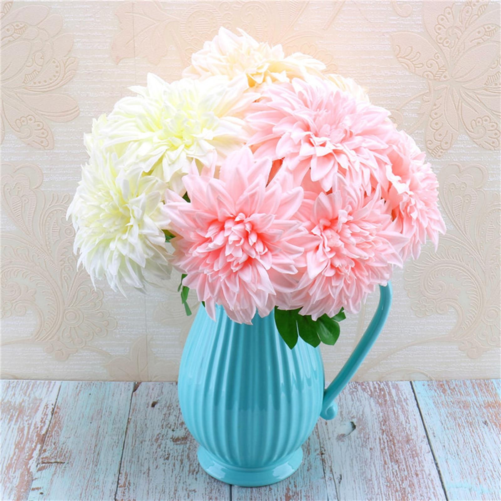 Christmas Wedding Bouquets And Flowers: Aliexpress.com : Buy 5 Head 43x12cm Dahlia Artificial Silk