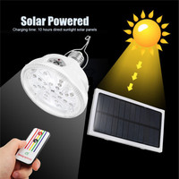 New Solar LED Light 24 LEDs Outdoor Indoor Solar Lamp Hooking Camp Garden Path Lighting Remote