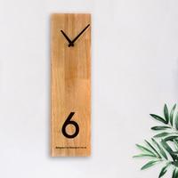 Modern Rectangular Wooden Wall Clock Housewarming Clocks, Non Ticking Silent Clock Scandinavian Clock Wall Decor