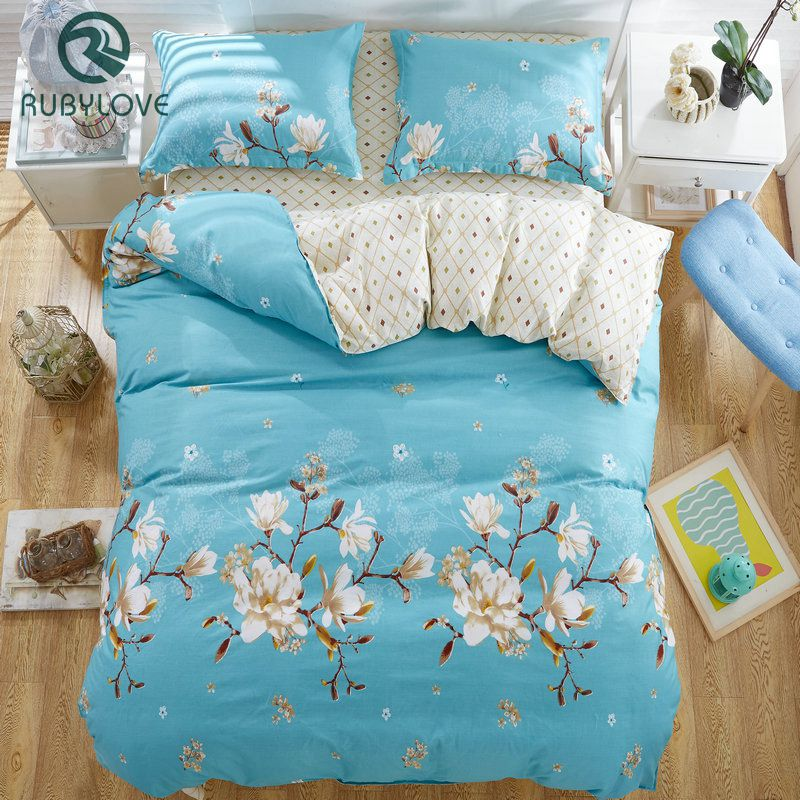 100% Cotton Flower print bedding set thick Bed Linens /bed cover /Two pillowcase100% Cotton Flower print bedding set thick Bed Linens /bed cover /Two pillowcase