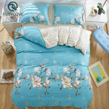 100% Cotton Flower print bedding set thick Bed Linens /bed cover /Two pillowcase