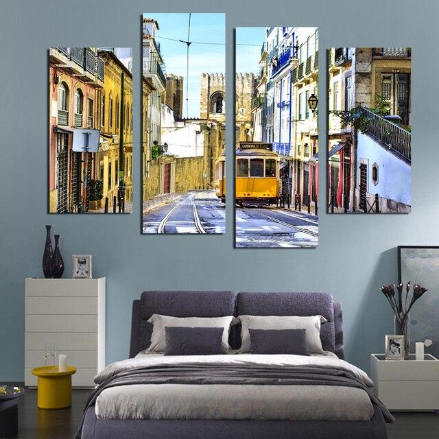 Wohnkultur Für Wohnzimmer Malerei Decor Bild City Trams Malen Nach Zahlen  Wand Deko Leinwand Malerei
