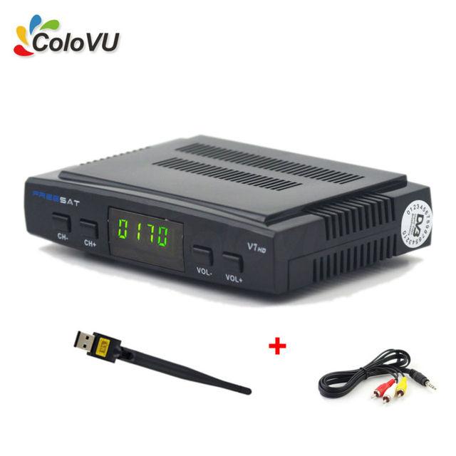TELEVISIÓN Digital Por Satélite Receptor Freesat V7 HD DVB-S/S2 FTA Set Top Box + USB WiFi + Cable AV apoyo Biss cccam newcamd Powervu