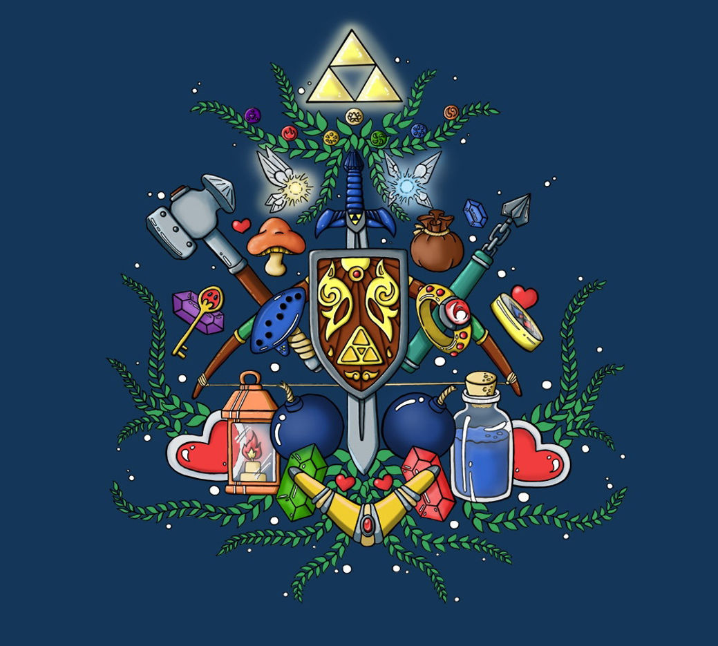 ᗑ】the legend of zelda 25th anniversary Game Fabric poster 28 x 24 ...