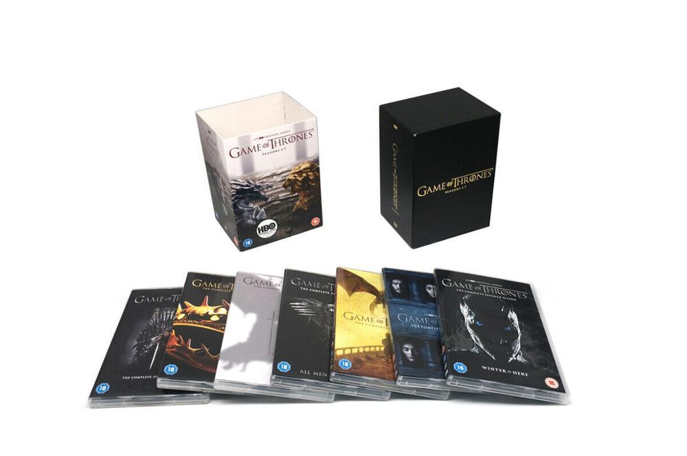 Game of Thrones saison 1-7 anglais coffret complet série et saison Set (34 disques DVD)